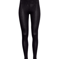 H&M - Jersey Leggings - Black - Ladies