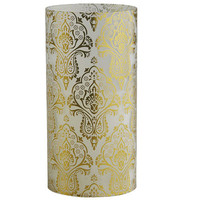 LED Damask Candle