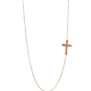 Adina Designs Tiny Cross Necklace