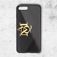 New Alexander Mcqueen Gold Logo Hard Plastic Case For iPhone 5 6 7 8 X Plus SE