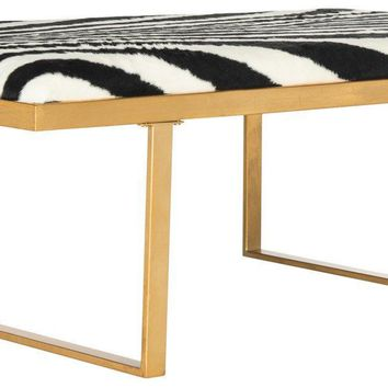 Millie Loft Bench / Coffee Table Zebra / Gold