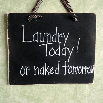 Wood sign, Laundry room, humor, funny