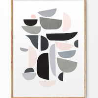 Geometric abstract shapes Poster