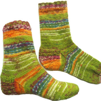 Trendy colors, knitted wool socks, green socks, short non shrink socks,no slide women socks, ankle wool socks, comfortable soft cozy socks
