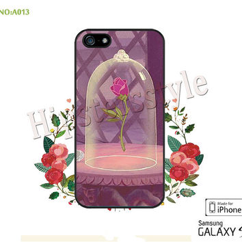 Disney, Beauty and the Beast Phone case iPhone 5/5S/5C Case, iPhone 4/4S Case, Disney princess, S3 S4 S5 Note 2 Note 3 Case for iPhone-A013