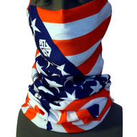 PATRIOT TSHIELD BY ROB KINGWILL SNOWBOARDING AMERICAN FLAG FACEMASK NECK GAITER