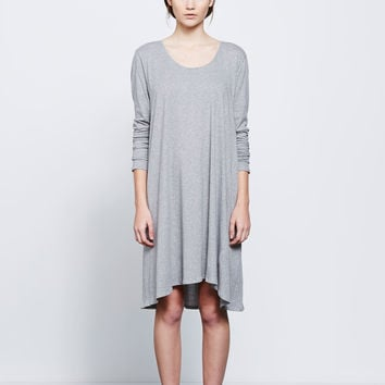 Building Block Long Sleeve Swing Dress