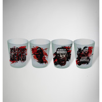 The Walking Dead Shot Glass Set 4 Pk