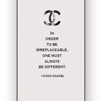 Choco Chanel Quotes for iPhone 4/4S Case **