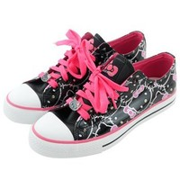 Hello Kitty Shoes: Faces/Black and Pink