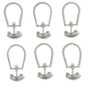 Pewter Anchor Decanter Tags