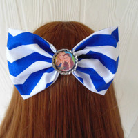 Sam and Cat / Sam and Cat hair bow / Hair Bow / Arianator / hair bow clip / Ariana and Jennette / cat hair clip / fabric bow / hair bow