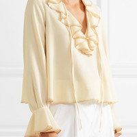 See by Chloé - Ruffled crepe blouse