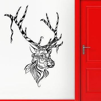 Wall Sticker Vinyl Decal Deer Animal Christmas Great Decor Room Unique Gift (ig2122)
