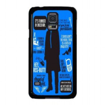 Cas Quotes Supernatural for samsung galaxy s5 case