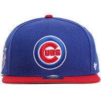 Chicago Cubs Two Tone Sure Shot Snapback Hat Royal Blue / Red