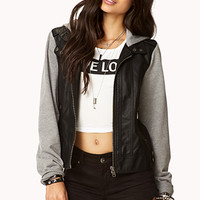 Cool Girl Faux Leather Jacket