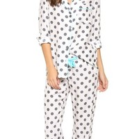 Three J NYC Coco Silk Pajama Set | SHOPBOP