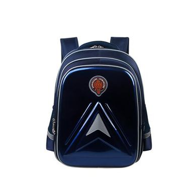 School Backpack PU Leather Waterproof Children Backpacks School Bags For Boys Kids Backpack Girls Large Compartment School Bag Customized Logo AT_48_3