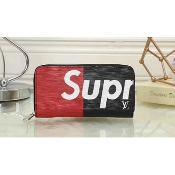 LOUIS VUITTON NEW SUPREME RED WALLET LEATHER WALLET B