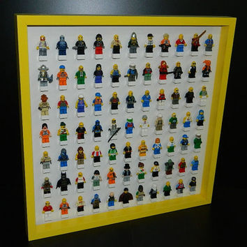 Handmade Display case for LEGO minifigure,lego minifig,lego starwars,lego Display shelve,Minifigure shelves