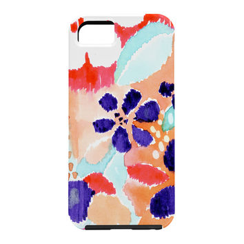 CayenaBlanca Ikat Flowers Cell Phone Case