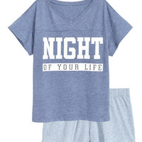 Pajama Set with Top and Shorts - from H&M