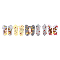 Disney Beauty And The Beast Belle Rose No-Show Socks 5 Pair