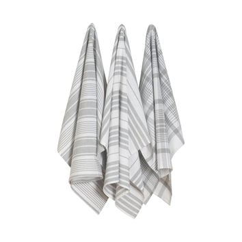 Gray Oversized Kitchen Towels - Set of 3