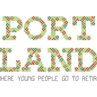 Portland Cross Stitch Pattern - Modern Cross Stitch - Portlandia