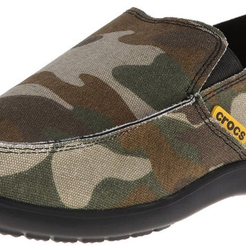 crocs Men's Santa Cruz Camo Loafer Green 8 D(M) US