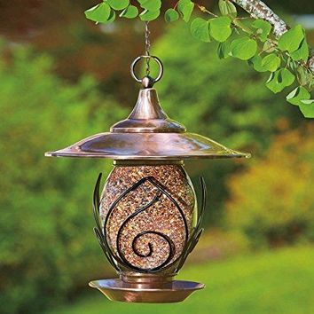 Tulip Bird FeederCreate A Stunning New Twist On Feeding Birds With The Lovely Nostalgic No Assembly TOUGH Weather Resistant Tulip Bird Feeder Glass Seed Bowl Steel Construction Holds 15.6 Cups/3.7 Liters Seed!