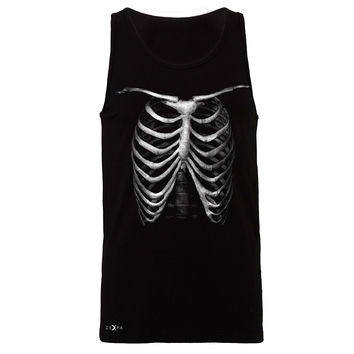 Zexpa Apparel™ Rib Cage Glow in The Dark  Men's Jersey Tank Halloween Costume Eve Sleeveless