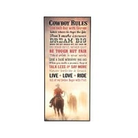 Cowboy Rules Wall Art - Home