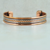 Twisted Rope Tibetan Copper Cuff Bracelet