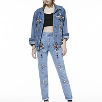 CROSS VIVI JEWELRY DENIM JACKET