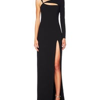 Cutout Single-Sleeve Gown