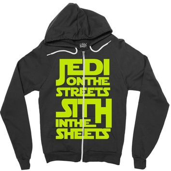 Jedi On The Streets Sith In The Sheets Zipper Hoodie
