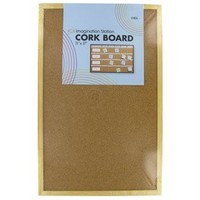 "11"" x 17"" Wood Frame Cork Board 