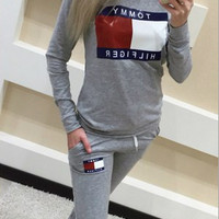 Letters Printed Sweater Sport Sets  10278