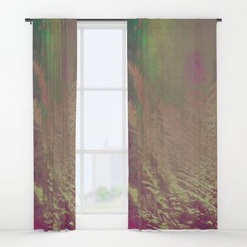 forest 1 #forest #fern Window Curtains by jbjart