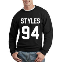 One Direction Sweatshirt Harry Styles 94 Logo Unisex Sweatshirt Crewneck tee size S,M,L,XL #1