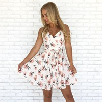 Poppy Dreams Floral Dress in Ivory