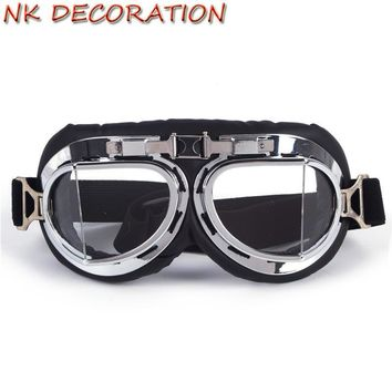 NK DECORATION Universal Vintage Biker Motorcycle Goggles Glasses For Motocross Goggles For Harley KTM For Cosplay Party Masks