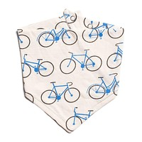 Blue Bicycles Bib by Winter Water Factory