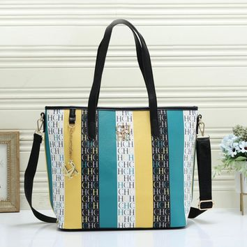 CH fashionable casual lady shopping bag hot seller which combines color and printing single shoulder bag #3