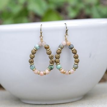 'Joy' Sunstone Aromatherapy Earrings