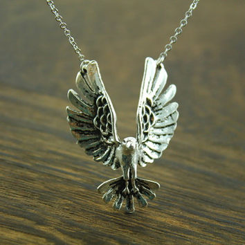 Soaring Eagle pendant necklace american symbol inspired jewelry