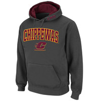 Central Michigan Chippewas Stadium Athletic Arch & Logo Pullover Hoodie - Charcoal