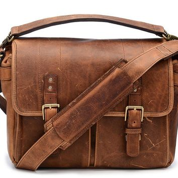 ONA - Leather Prince Street Antique Cognac Messenger Bag